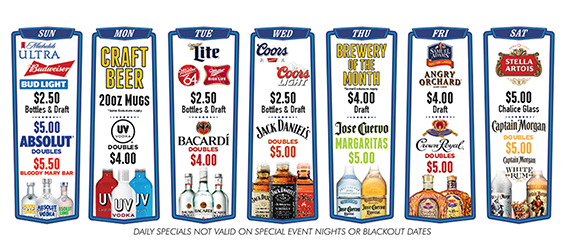 The Bar  Daily Drink Specials